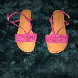 Like New Xhilaration Ruffle Pink Strappy Sandals